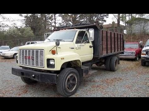 gmc topkick dumptruck start  engine   depth