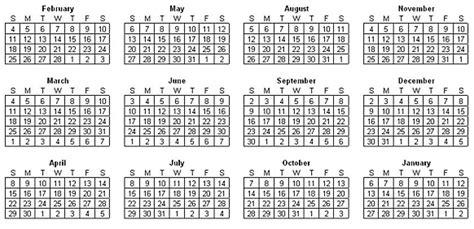 setup calendar