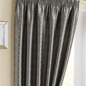 Tuscany silver pencil pleat curtains pencil pleat for Pencil pleat curtains on track