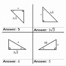 Special Right Triangles Practice Game Problem Cards (class Set Of 15