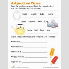 49 Best Images About Starters  Adjectives On Pinterest  Descriptive Words, First Grade Reading