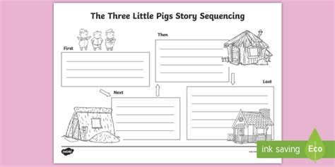 pigs story sequencing worksheet