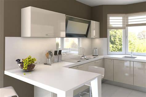 cuisine blanche et taupe cuisine moderne blanche avec des touches de couleur