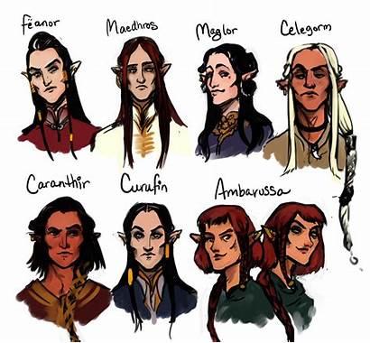 Tolkien Feanorians Fantasy Silmarillion Elves Heroes Lord