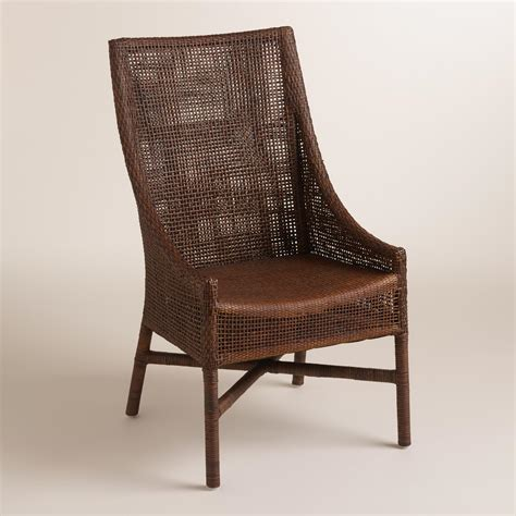 brown woven rattan carson chairs set of 2 world market