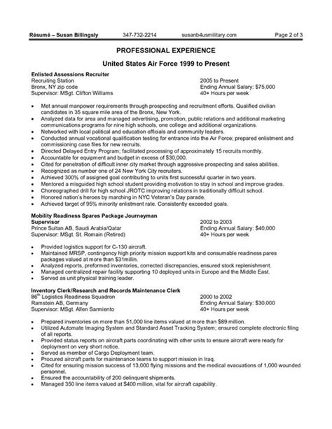 Federal Government Resume Exle by Resume Exles Federal And Resume On