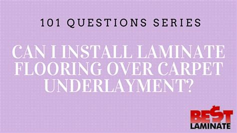 can you put laminate flooring in a kitchen can you install laminate flooring carpet padding 9934
