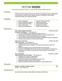 nail salon manager resume sle client server technician resume exles it resume sles livecareer