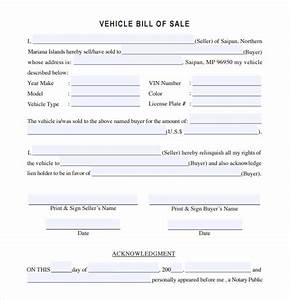sample vehicle bill of sale 13 download free documents With vehicle bill of sale as is template