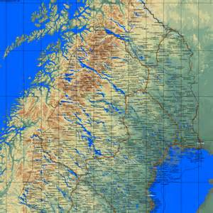country maps sweden