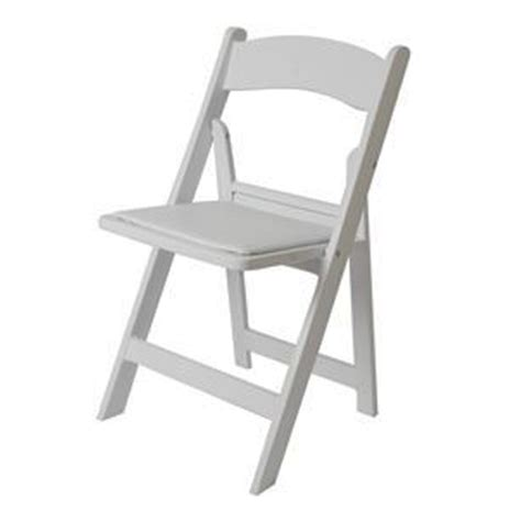 padded folding chair white product details