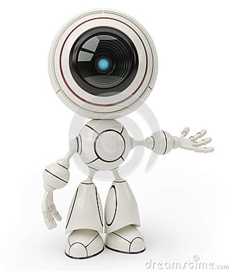 cute robot royalty  stock images image