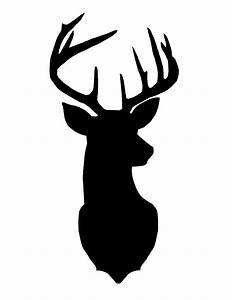deer outline clipart black and white - Clipground