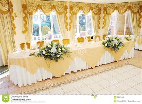 head tables at wedding receptions stock photography top
