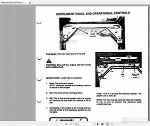 Mustang 960 Skid Steer Loader Operators Manual