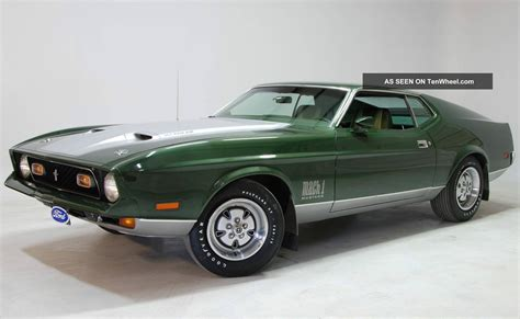 Unrestored 1971 Ford Mustang Mach 1 Paint Upholstery Lk
