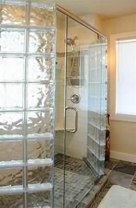 Cabine De Douche En Verre : mettons des briques de verre dans la salle de bains ~ Zukunftsfamilie.com Idées de Décoration