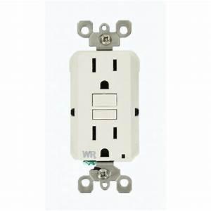 Leviton 15 Amp Smartlockpro Weather Resistant Gfci Outlet  White-gfwr1-w