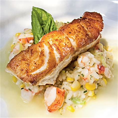 grouper recipe fish baked recipes roasted easy seafood whole beurre blanc risotto citrus champagne myrecipes frank cl salad edwards peter