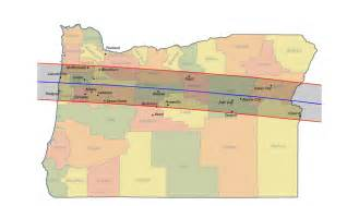 Total Solar Eclipse Oregon 2017 Map