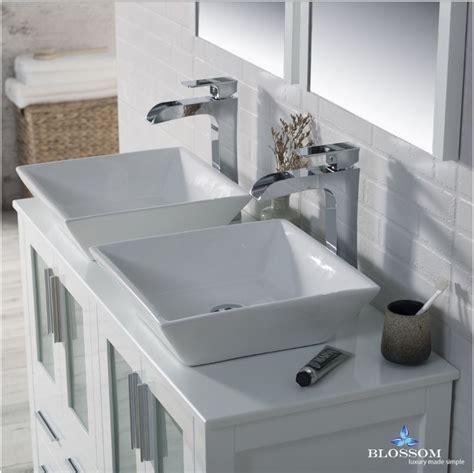 blossom double bathroom vanity sydney glossy white