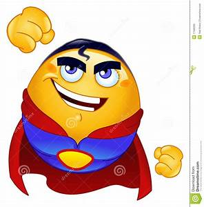 Super hero emoticon stock vector. Image of character ...