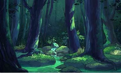 Forest Photoshop Stream Landscape Animated Animation Peaceful
