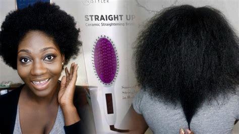 straightening brush  bc hair   work youtube