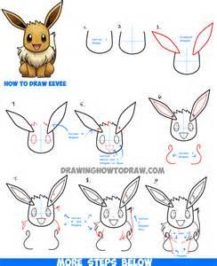 draw eevee pokemon easy step step drawing tutorial