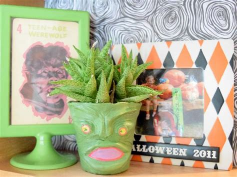 air dry clay planters  halloween  tos