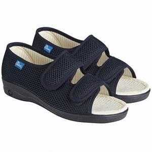 Chaussures CHUT pour femme Dr Comfort New Diane bleu marine DJO chaussures à volume variable