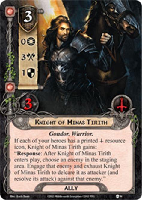 lotr lcg deck lists of minas tirith assault on osgiliath lord of