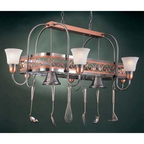 Copper Pot Rack With Lights by Copper Lighted Pot Racks Pot Racks Bellacor
