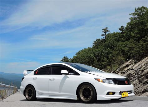 Some cars are slammed, dropped and extended bumpers. Honda Civic Si 2012 Modified - Honda Civic