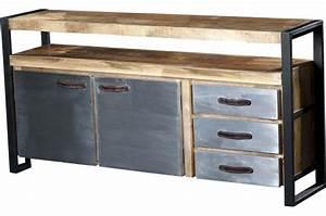 Buffet Metal Et Bois : buffet en bois et m tal chrisis design sur sofactory ~ Melissatoandfro.com Idées de Décoration