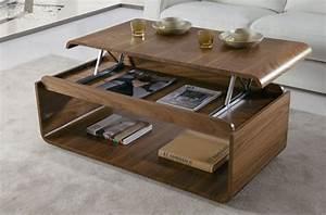 Table Basse Tablette Relevable : zoom sur la table basse avec plateau relevable ~ Teatrodelosmanantiales.com Idées de Décoration