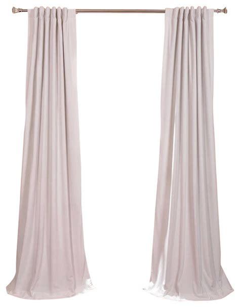 signature white blackout velvet curtain traditional
