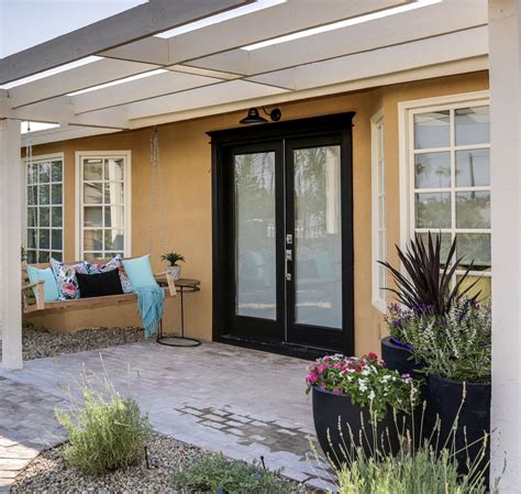 front door  cheap backyard makeover ideas