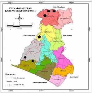 Gambar 1  Peta Wilayah Kabupaten Kulon Progo  Sumber