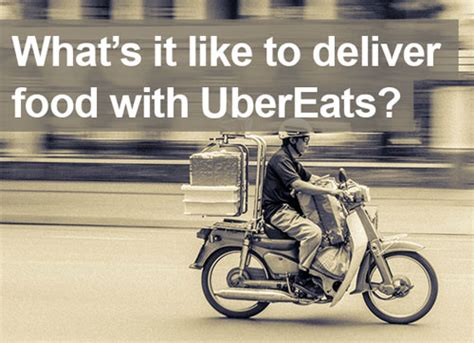driving  ubereats     delivering food