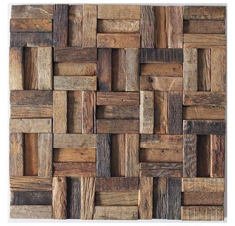 Ancient Ship Wood Mosaic, Floor Tiles, Wall Tiles, Rustic