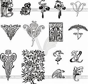 Jugendstil Florale Ornamente : einfache florale ornamente im jugendstil clipart ~ Orissabook.com Haus und Dekorationen