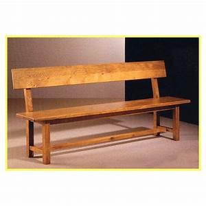 Banc en bois avec dossier mzaolcom for Banc de cuisine en bois avec dossier