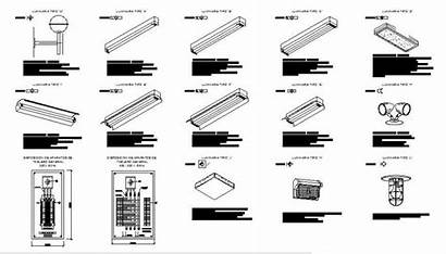 Ceiling False Installation Electrical Drawing Led Lights