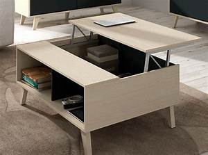 Table Basse Relevable Domino Chene