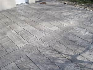 nouveaute beton imprime beton drainant With prix terrasse beton imprime