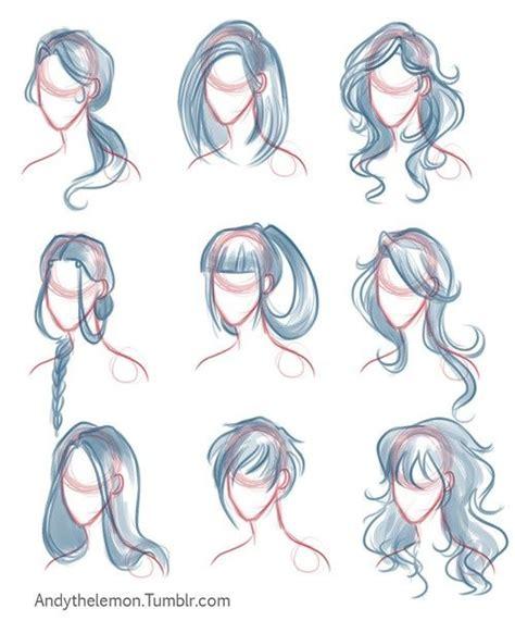 drawing tutorial drawing hair tutorial   draw hair