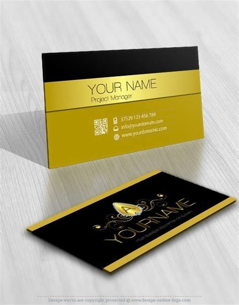 exclusive design luxury jewelry logo  business card