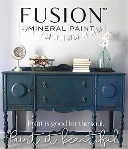 Our buffet in homestead blue by fusion mineral paint for Furniture repair homestead
