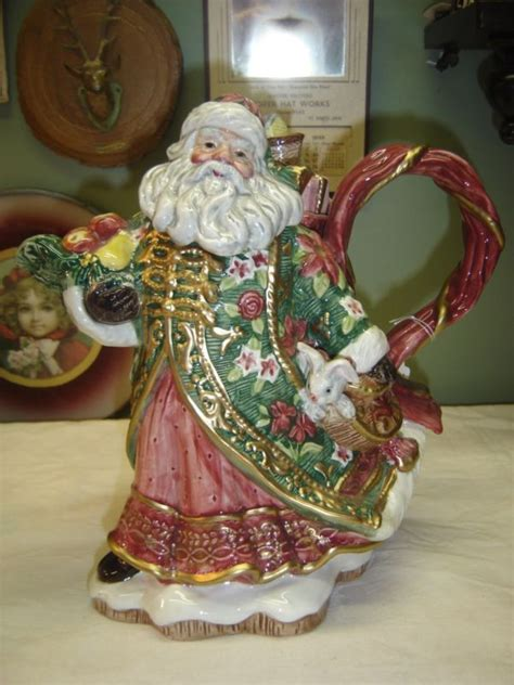 fitz  floyd santa teapot shop collectibles  daily